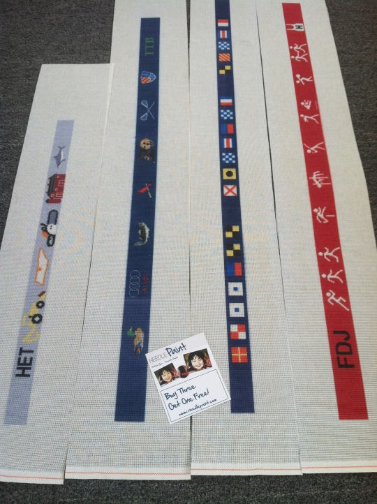 We love to design custom needlepoint belt canvases!
