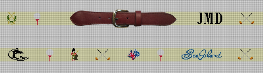 Finished Preview of a Custom Golf Needlepoint Belt