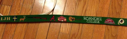 Custom Needlepoint Belt, Stitch by Rachael in Virginia