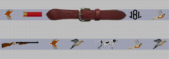 Custom Bird Hunting Needlepoint Belt Canvas
